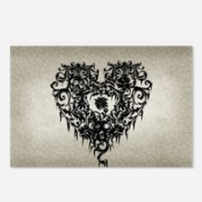 Ornate Gothic Heart Postcards (Package of 8)
