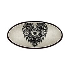 Ornate Gothic Heart Patches