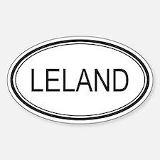 Leland Oval Design Oval Decal