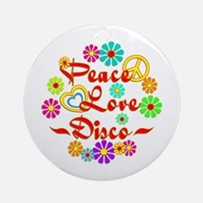 Peace Love Disco Ornament (Round)