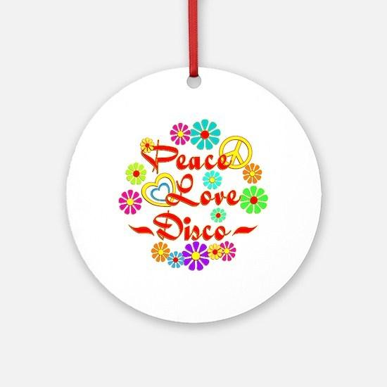 Peace Love Disco Ornament (Round)