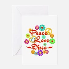 Peace Love Disco Greeting Card