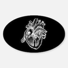Human Heart Drawing Sticker (Oval)