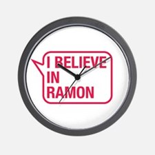 I Believe In Ramon Wall Clock