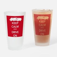 Drive On - Red Drinking Glass