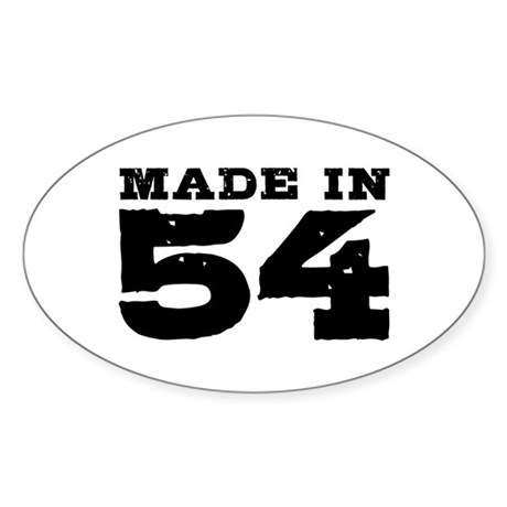 Made In 54 Sticker (Oval)