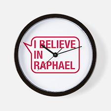 I Believe In Raphael Wall Clock