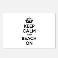 Keep calm and beach on Postcards (Package of 8)