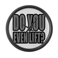 Do You Even Lift? Large Wall Clock