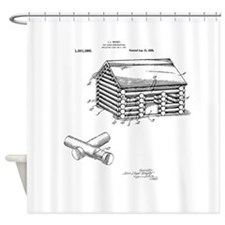 Toy Log Cabin Shower Curtain