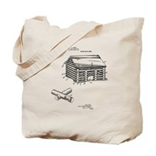 Toy Log Cabin Tote Bag