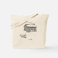 Toy Log Cabin Tote Bag
