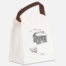 Toy Log Cabin Canvas Lunch Bag