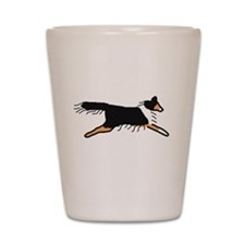 Tri-Color Sheltie Shot Glass