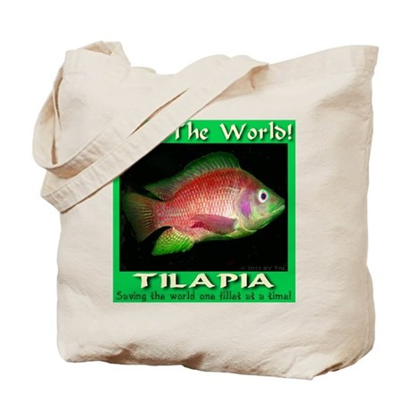Feed the world tilapia tote bag by madeinusa for Is tilapia a bottom feeder fish