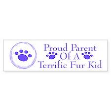 Terrific Fur Kid 222 Bumper Bumper Sticker