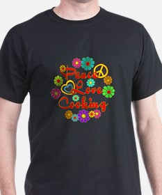 Peace Love Cooking T-Shirt