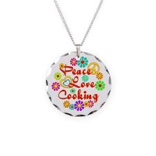 Peace Love Cooking Necklace