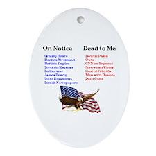 Colbert Report Lists Oval Ornament