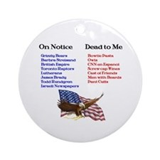 Colbert Report Lists Ornament (Round)
