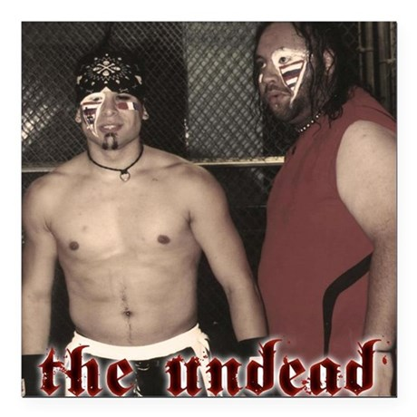 "The Undead tag team promo!!! Square Car Magnet 3"""