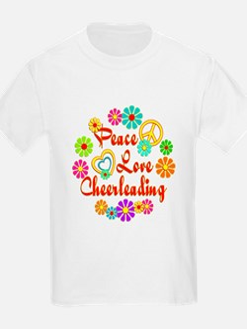 Peace Love Cheerleading T-Shirt