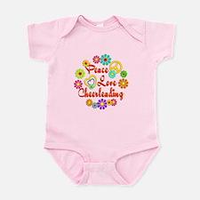 Peace Love Cheerleading Infant Bodysuit