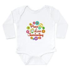 Peace Love Cheerleading Long Sleeve Infant Bodysui