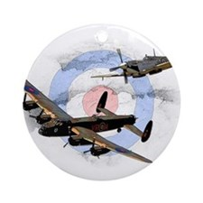 Spitfire and Lancaster Ornament (Round)