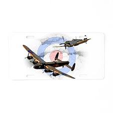 Spitfire and Lancaster Aluminum License Plate
