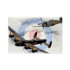Spitfire and Lancaster Rectangle Magnet