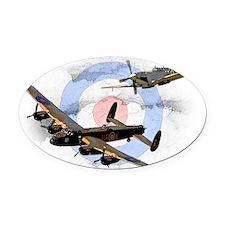 Spitfire and Lancaster Oval Car Magnet