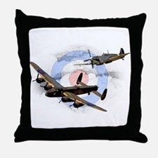 Spitfire and Lancaster Throw Pillow