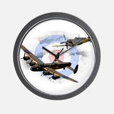 Spitfire and Lancaster Wall Clock