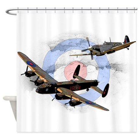 Spitfire And Lancaster Shower Curtain