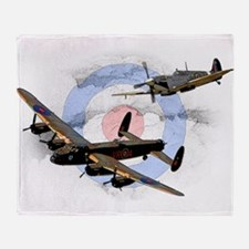 Spitfire and Lancaster Throw Blanket