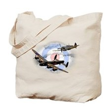 Spitfire and Lancaster Tote Bag