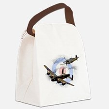 Spitfire and Lancaster Canvas Lunch Bag