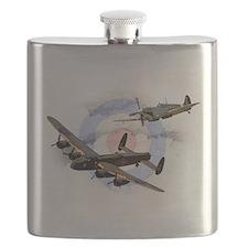 Spitfire and Lancaster Flask