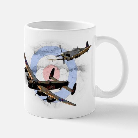 Spitfire and Lancaster Mug