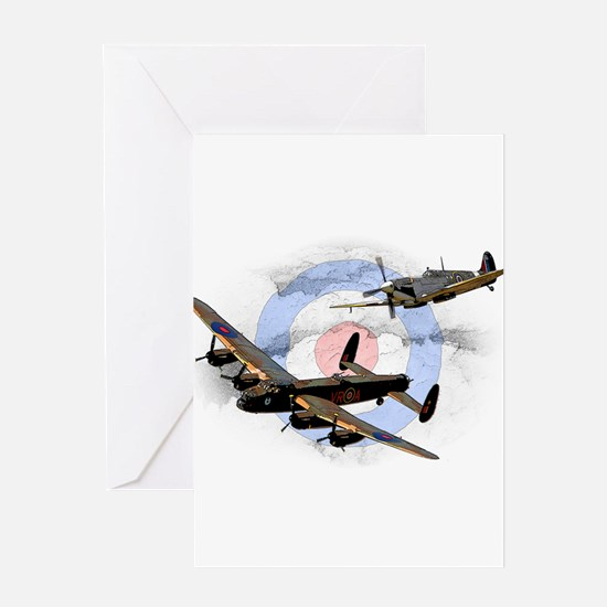 Spitfire and Lancaster Greeting Card