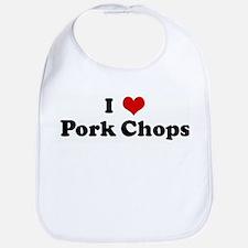 I Love Pork Chops Bib