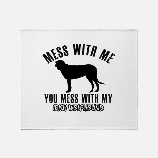Irish Wolfhound owner designs Throw Blanket