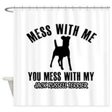 Jack Russell Terrier owner designs Shower Curtain