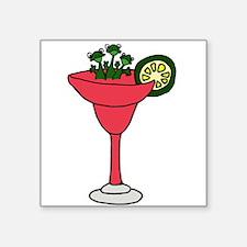 Frogs in Margarita Drink Sticker