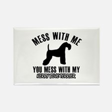 Kerry Blue Terrier owner designs Rectangle Magnet