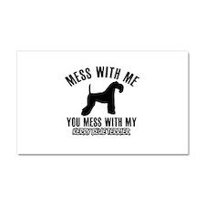Kerry Blue Terrier owner designs Car Magnet 20 x 1