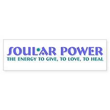 Soul*ar Power-give,love,heal Bumper Bumper Sticker