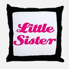 Little Sister (pink) Throw Pillow