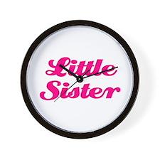 Little Sister (pink) Wall Clock